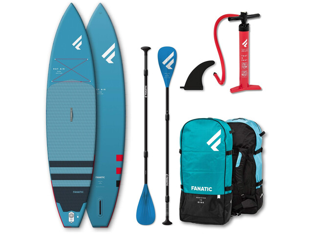 "Fanatic Ray Air Premium/Pure SUP Package 12'6"" Inflatable Sup with Paddles and Pump"